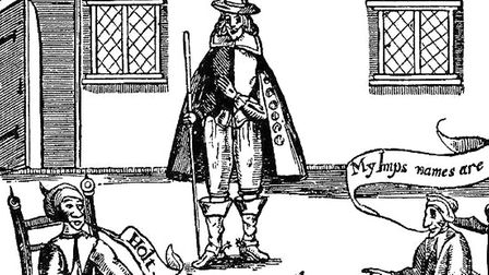 Mathew Hopkins, the self proclaimed Witchfinder General, who terrorised the East Anglian countryside