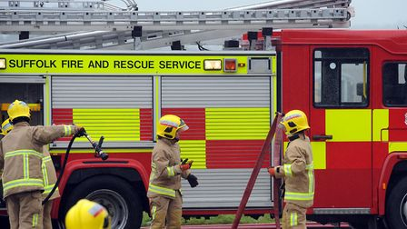 Firefighters from three stations were called to the scene. Picture: PHIL MORLEY