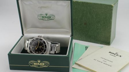 The rare Rolex Oyster Perpetual Submariner watch, which sold for £150,000 Picture: LOCKDALES