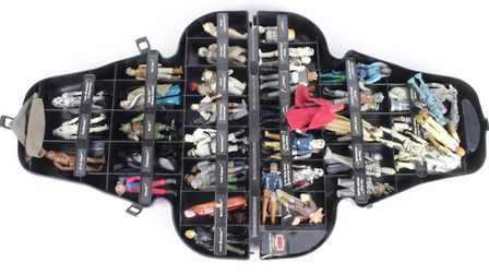 A Darth Vader presentation case of Star Wars figures was auctioned Picture: LOCKDALES