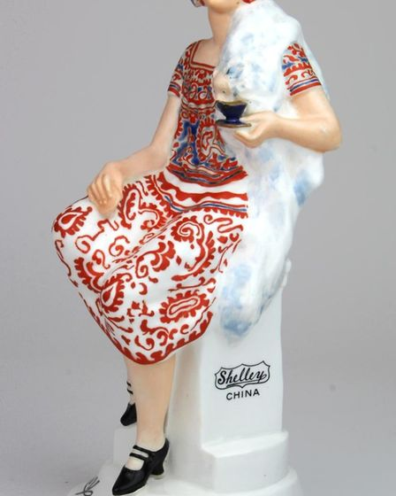 A 1930s 'Shelley girl' advertising figurine Picture: LOCKDALES