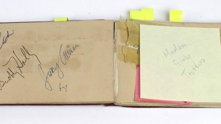 An autograph book with Buddy Holly's autograph was in the Lockdales auction Picture: LOCKDALES