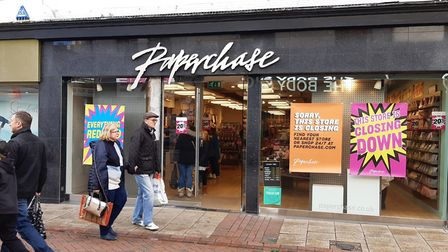 Paperchase in Ipswich is closing down. Picture: JUDY RIMMER