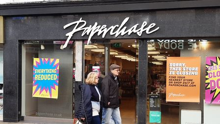 Paperchase in Tavern Street, Ipswich, is set to close Picture: JUDY RIMMER