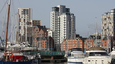 The Winerack apartment block on Ipswich waterfront, which was built between 2014 and 2019 Picture: