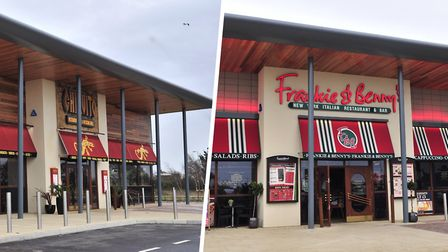 Frankie & Benny's and Chiquito sites in Nacton Road, Ipswich, are being offered up for sale. Picture