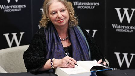 Hilary Mantel with her book during a preview event at Waterstones in London Picture: YUI MOK/PA IMA