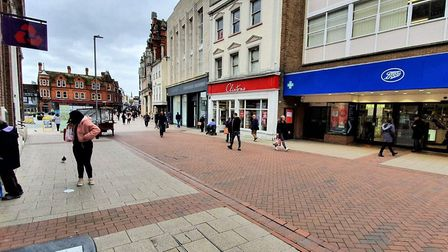 There are fewer people in Ipswich town centre because of the coronavirus crisis. Picture: GEMMA JARV