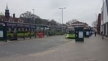 There were fewer people buses in Ipswich, but some people are still using them to get around the tow