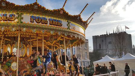 The magic of Bury St Edmunds Christmas Fayre Picture: RACHEL EDGE
