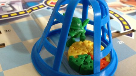 The cage descends, and traps a rodent and cheese. It's Mouse Trap! Picture: ARCHANT