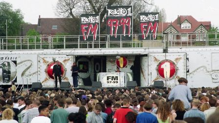 The Radio 1 Roadshow in its new location at Christchurch Park, Ipswich, in 1996 Picture: ARCHANT