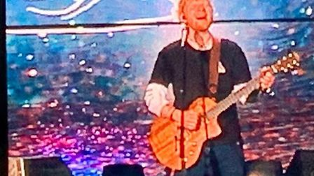 Ed Sheeran lit up the stage at Chantry Park, Ipswich, last August Picture: EMILY TOWNSEND