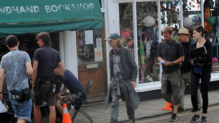 Mackenzie Crook in Framilngham in 2014, filming his series Detectorists Picture: Phil Morley