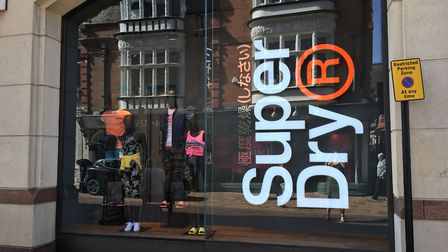 Coronavirus has slowed sales at Superdry stores across Suffolk. Picture: ARCHANT