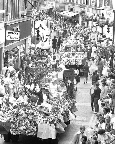 Looking down the high street as the carnival makes it's way through Ipswich Picture: ARCHANT