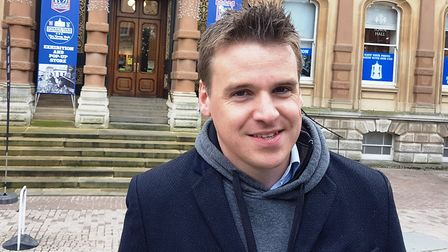 Ipswich MP Tom Hunt is hoping to be out of self isolation at the start of next week. Picture; PAUL G