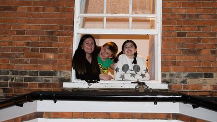 Residents of Cemetery Road came out in force to clap for the NHS. Picture: SARAH LUCY BROWN