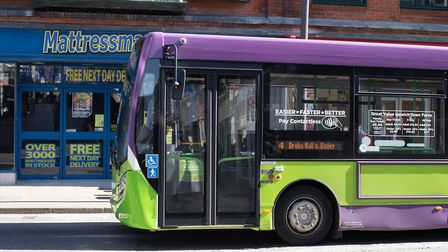 Buses in Ipswich are running almost empty after people have been warned not to travel on public tran