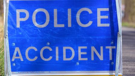 Police closed a stretch of the A14 following a crash between two cars Picture: MATTHEW USHER