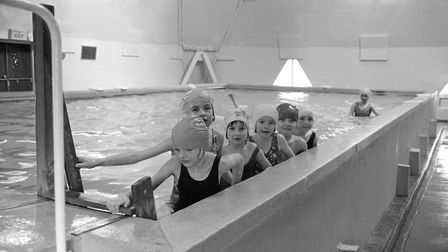 Smiles all round in the swimming pool at Halifax School, Ipswich in 1977 Picture: ARCHANT
