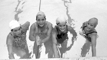 Some of the competitors at Stowmarket Swimming Gala in August 1975 Picture: ARCHANT
