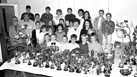 Stowmarket swimming club awards in January 1990