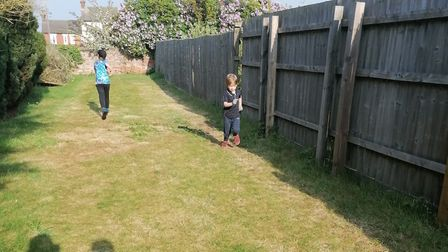Running in the garden for Couch to 5K, as part of Keep Moving Suffolk Picture: ALEX OLIVER