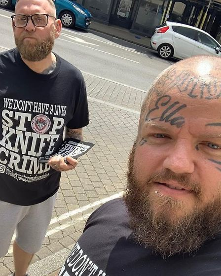 Jamie Hart (left) and Paul Stansby founded the Be Lucky Anti-Knife Crime Foundation after the fatal