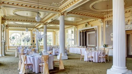 Harvest House's Palm Court and dining room will be the centrepieces for the wedding celebrations Pic