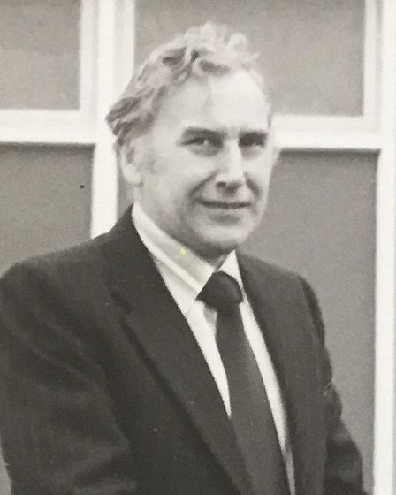Wilf Horsfield pictured during his days as headmaster of Westbourne High School in Ipswich. Picture: HORSFIELD FAMILY