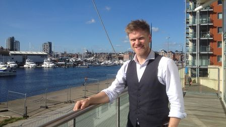 Callum Hewitt, director, at Aurora the family-owned bar and restaurant overlooking Ipswich Waterfron