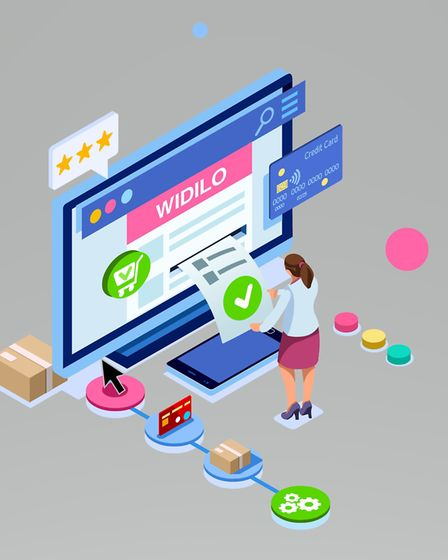 Join Widilo for free - it takes less than a minute. Picture: smartmockups.com
