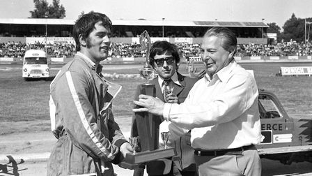 Prize giving at the stock car championship at Foxhall stadium in 1972 Picture: DAVID KINDRED