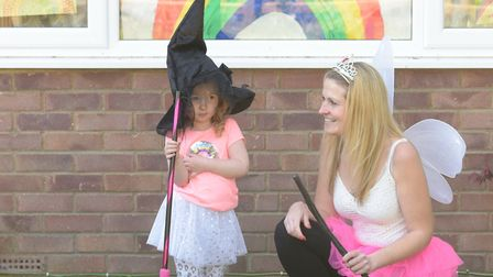 Crystal Stanley, who founded the rainbow trail in Ipswich and her daughter Ariana decided to have a