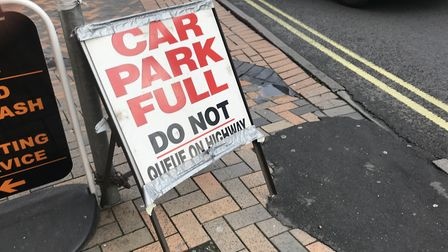 The Buttermarket car park in Ipswich is currently full Picture: ARCHANT