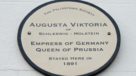 Marking the stay of the Empress of Germany - the plaque on South Beach Mansion Picture: ARCHANT