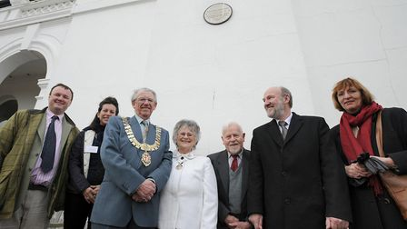 Unveiling of the plaque in memory of the Empress of Germany, whose visit to Felixstowe led to it bec