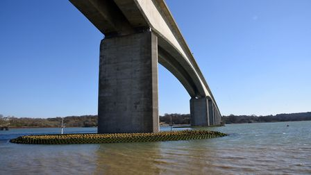 Highways England says it is continuing work to launch a 40mph speed limit trial on the Orwell Bridge