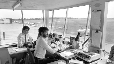 The control tower at Ipswich airport in May 1988. Picture: JERRY TURNER/ARCHANT