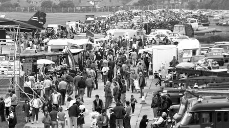 The crowds that flocked to Ipswich airport to watch the air show in 1991 Picture: ARCHANT