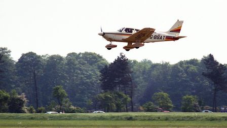 A low pass as planes come into land on the runway at Ipswich Air Race in 1989 Picture: ARCHANT