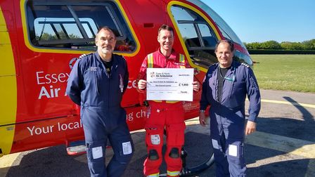 Essex & Herts Air Ambulance (EHAAT) recieved a �1,000 donation from the family of Tavis Spencer-Aitk