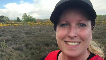 Mrs Whymark was inspired to complete the challenges after losing loved ones to cardiac arrests Pict