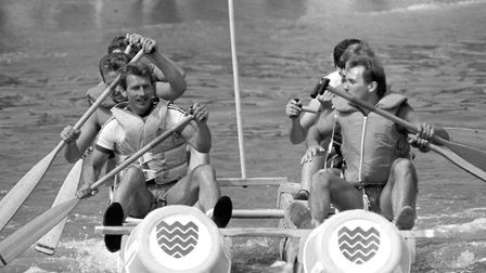 Felixstowe Raft Race in 1986 Picture: ARCHANT