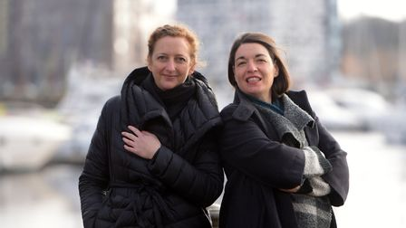 Iona Hodgson and Daisy Lees - organisers of ArtEat - who have just got funding for a new mural for t