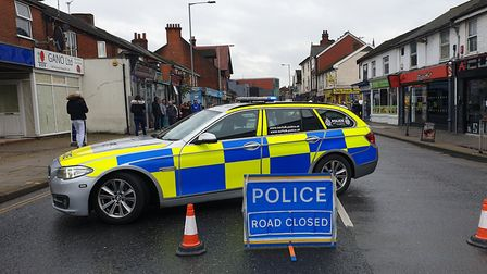 Norwich Road was closed by police following the incident Picture: MATTHEW EARTH