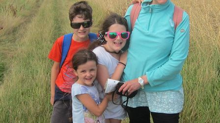 Anna Leggett, from Waldringfield, with children Danny, Keziah and Chloe . Picture: CFG