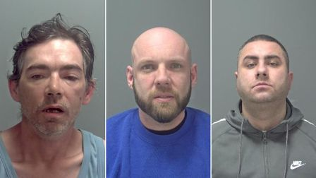 From left to right, Anthony McLeod, Scott Haym and Mateusz Nowakowski. Picture: Suffolk Constabulary