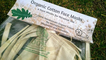 A set of four organic face masks Picture: JO SALTER